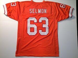 UNSIGNED CUSTOM Sewn Stitched Lee Roy Selmon Orange Jersey - M, L, XL, 2XL