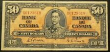 1937 Canada $50 Dollars B/H0123619 Circulated with Ink #6912