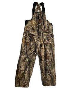 REMINGTON Camo AP Real Tree Camouflage Insulated Overalls Bibs Men's  L Large