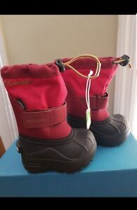 Columbia Boys/Girls RedToddler Snow Winter Boot Powderbug Plus II Size 4C