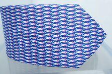 New Salvatore Ferragamo Men's Tie Feather Logo Silk Blue Neckwear Multi