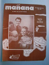 TWO (2)1948 MANANA IS SOON ENOUGH FOR ME Sheet Music PEGGY LEE Dave Barbour