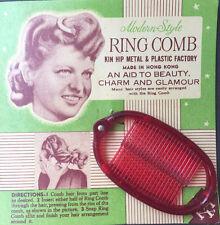 Stile moderno Rosso Brillante Anello PETTINE-un aiuto alla bellezza di fascino e glamour