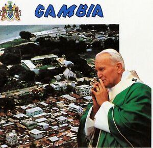 Gambia Trip / Travel Pope John Paul II Vatican Envelope PA519