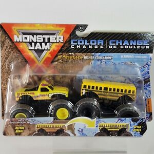 Monster Jam 2021 Series 15 1:64 Diecast Color Change Trucks Dirty To Clean Bus