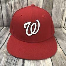 Washington Nationals MLB Baseball Hat New Era Fitted Cap 7 5/8 59FIFTY Red EUC!