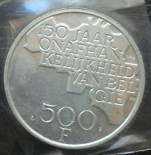 monnaie munt 500 Fr Belgique 150 ans Indépendance jaar onafhankelijkheid VLAAMS