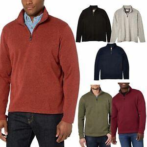 Mens Wrangler Quarter Zip Knit Fleece Lined Jumper Warm Cardigan Sweater New