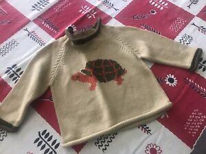 L.L. Bean Infant Boys Turtle Sweater 3-6 Months Baby