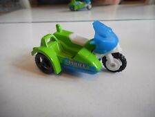 Matchbox Motorbike with Sidecar Police in Green