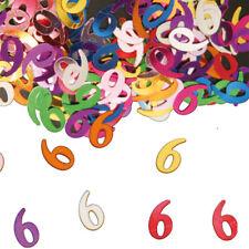 TISCH KONFETTI ZAHLEN Geburtstag Nummer sechs 6 Jahre Jubiläum Party Deko F05305