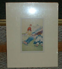 Johnny Gruelle /P.F. Volland 1920 Raggedy Ann& Andy Book print /Matted
