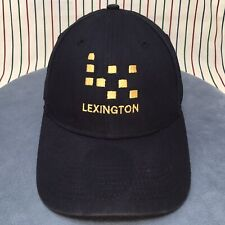 334 Lexington LX Strapback Dad Hat BLACK Gold Stitch New Era 9FORTY Baseball Cap