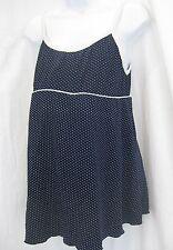 Maternity Bathing Swim Suit Blue and White Polka Dot Medium Vintage One Piece
