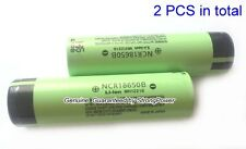 2 Genuine PANASONIC NCR18650B High Drain Flat Top Battery 3400mAh 3.7V(2PCS)