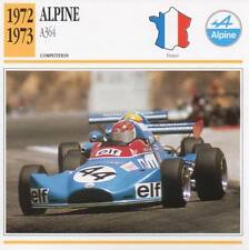 1972-1973 ALPINE A364 Racing Classic Car Photo/Info Maxi Card