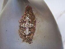 Cross pendant to~HEAR THE DEAD!~haunted-Cemetery-E.V.P.-OUIJA-Lift the VEIL