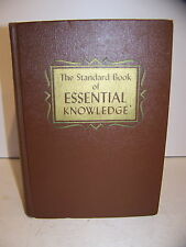 THE STANDARD BOOK OF ESSENTIAL KNOWLEDGE EDUCATIONAL BOOK CLUB 1958 F. MEINE