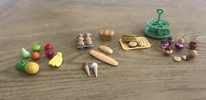 Dollhouse Miniatures Food Bakery Bread Fruit Muffins Cupcakes