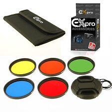 Ex-Pro 55mm Colour Filter Set 5 Piece Filter Kit with Case & Lens Cap