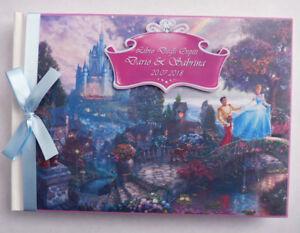 Personalised Cinderella wedding guest book, Cinderella book, Cinderella album