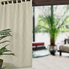 "*ELRENE Corado Ogee Tab-Top Indoor/Outdoor Curtain Panel UPF 50+ 50""Wx84""L Ivory"