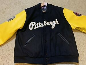 Vintage Negro League Museum Pittsburgh Crawford Baseball Jacket Headgear SZ 2XL