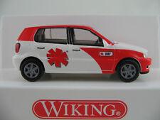 """Wiking 07105 VW Polo III (1999) """"DRF Luftrettung"""" weiß/rot 1:87/H0 NEU/OVP"""