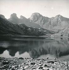 LAC D'ALLOS c. 1940 - Panorama Baignade Alpes-de-Haute-Provence - DIV8639