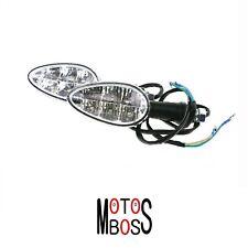 Paar von Indikatoren Vorne Chrom Moto Guzzi V50c