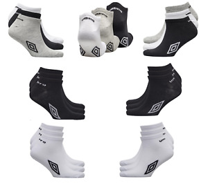Umbro Mens Official Trainer Liner Sports Ankle Socks Cotton Rich Adults 6-11