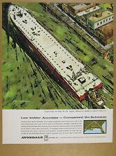 1963 Largest Barge ever Built GREAT ship tug art Avondale Shipyards vintage Ad