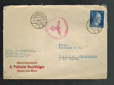 1944 Hanau Germany Censored Cover to Paris France