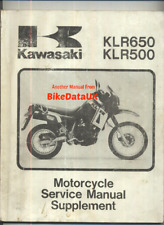 Kawasaki KLR650 (87-92) Shop Manual Supplement KL650 KL KLR 500 650 A1-A6 CF44