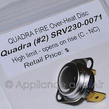 Snap Disc #2 L250 SRV230-0071 High Limit Quadrafire 800/1000/1100i +Instructions