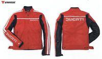 DUCATI Dainese 80's Lederjacke Jacke Gr. 50 Motorradjacke Leather Jacket rot NEU