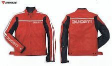 Ducati Dainese 80's Leather Jacket Size 50 Biker Jacket Leather Jacket Red New