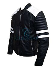 Classyak Fight Men Club Real Leather Jacket, Supreme Quality Leather, Xs-5xl