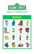 Sesame Street Birthday Party Game Bingo Cards
