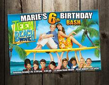 TEEN BEACH MOVIE BIRTHDAY PARTY INVITATION PHOTO INVITE k2 INVITE CARD CUSTOM