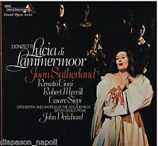 Donizetti: Lucia Di Lammermoor / Pritchard, Sutherland, Setos, Merrill LP Decca