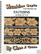 """Patterns for Belts 3/4"""" to 2"""" by Chan Geer (Sheridan Style Leather Patterns)"""