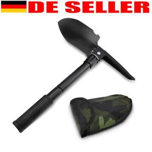KLAPPSPATEN mit BW Tasche Bundeswehr Spaten Outdoor Schaufel Hacke Schüppe Säge