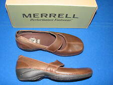 6 M Merrell Brown Olive Brio Ladies Shoes Womens Walking OrthoLite Air Cushion 6