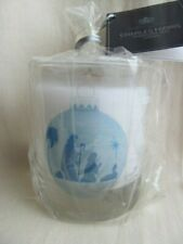 Charles Farris Christmas Nativity Votive Glass Jar Candle New Sealed Non-scented