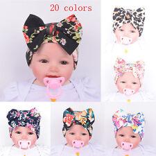 Newborn Baby Boy Girls Cotton Beanie Hat Cute Floral Bowknot Hospital Summer Cap