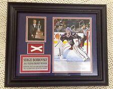 Bobrovsky Vezina Trophy Sergei Columbus Blue Jackets '13 NHL Hockey Photo Plaque