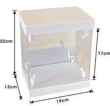 White Acrylic Display Case LED Light Box for Swarovski Crystal Peacock Arya
