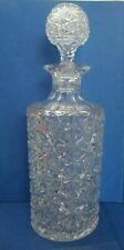 Rare Thomas Webb Cut Glass Cylindrical Decanter