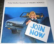 ORIGINAL 1967 SALES BROCHURE - 1967 DODGE POLARA/MONACO